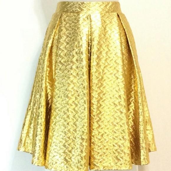 LuLaRoe Dresses & Skirts - NWT LulaRoe Elegant Gold Metallic Madison Skirt